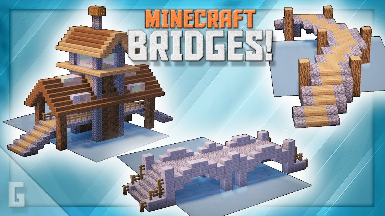 Minecraft Unique Creative Bridge Designs Youtube