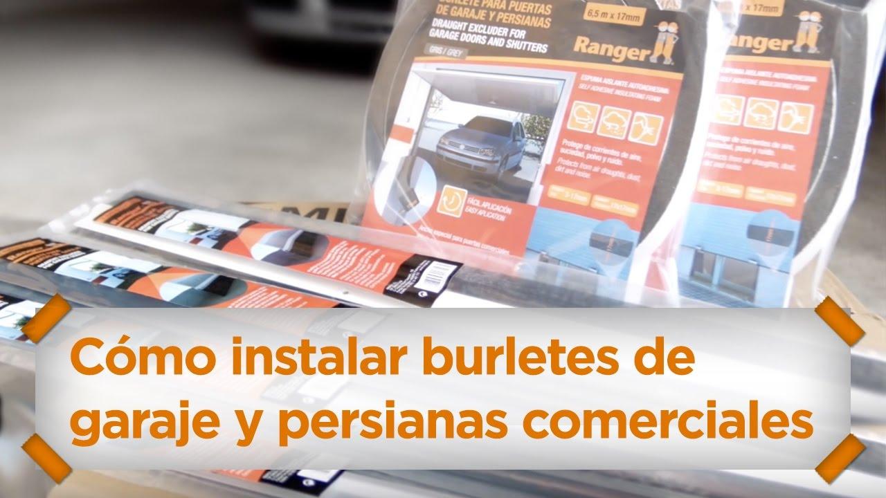 C mo instalar burletes de garajes y persianas comerciales miarco youtube - Burletes para puertas de garaje ...