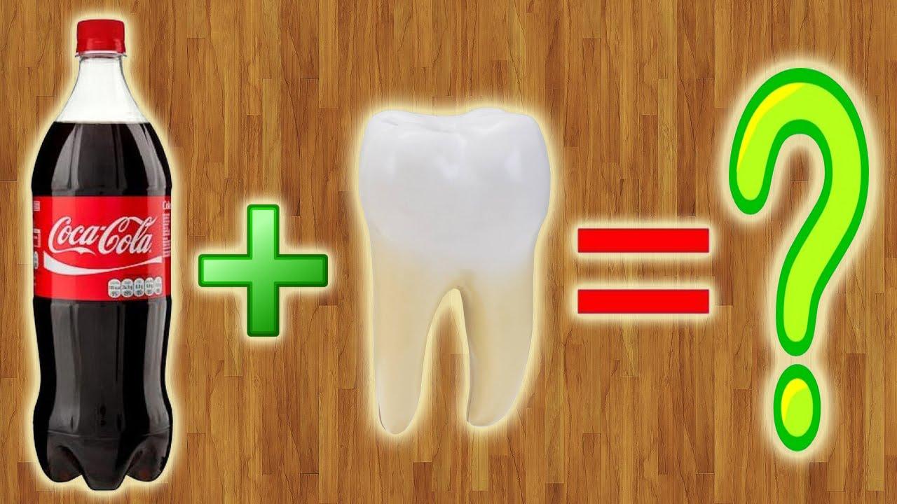 Чистить зубы кока колой