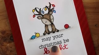 Lawn Fawn Cheery Christmas | Light Up Christmas Card