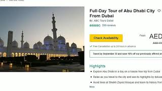 Top 10 tourist attractions in UAE and prices