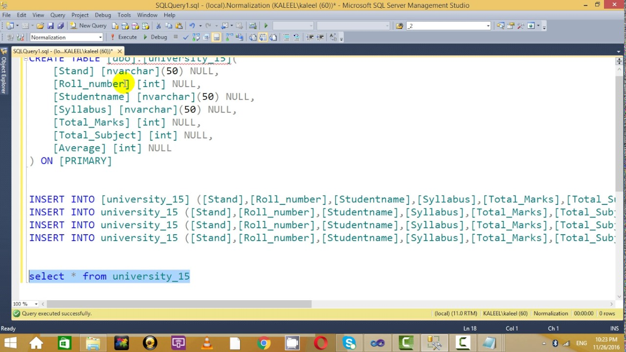 SQL Normalization 1NF, 2NF, 3NF well expained ...