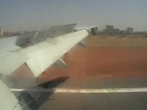 Khartoum Landing B777 هبوط مطار الخرطوم
