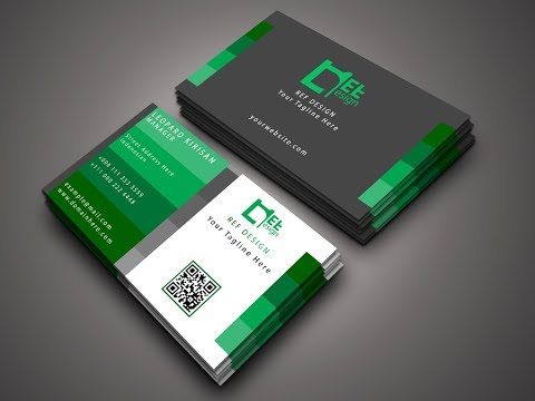 Modern Business Card Design in Photoshop - Photoshop Tutorial thumbnail