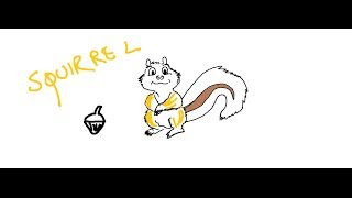Easy Kids Drawing Lessons:HOW TO DRAW CARTOON SQUIRREL