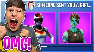 I GIFTED Him A Skin And HE *FREAKED* OUT in Fortnite Battle Royale!