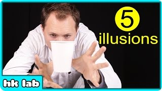 5 Mind Blowing ILLUSIONS that You Can Do At Home