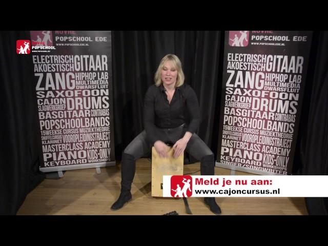 Cajon leren spelen - deel 2.  Volg de cajoncursus met Femke Krone