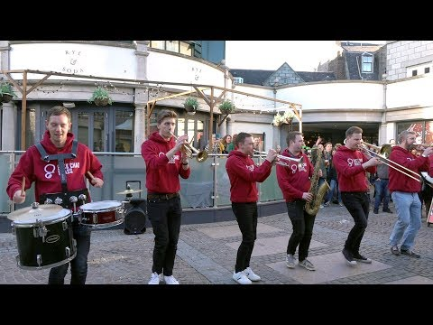 """Back Chat Brass """"Can't stop the feeling"""" during the Aberdeen Jazz Festival in Scotland 2019 Mp3"""