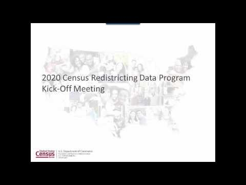 2020 Census Redistricting Briefing Part 1 – James Whitehorne