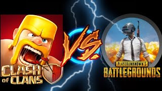 #coc, #pubg, #titanerous army.. COC VS PUBG //CLASH OF CLANS VS PUBG... //SUPERCELL VS BLUE HOLE