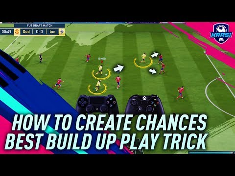 FIFA 19 EASY ATTACKING TUTORIAL - BEST BUILD UP PLAY TRICK! HOW TO CREATE GOAL CHANCES