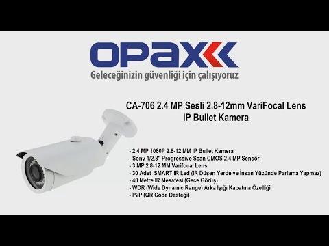 CA-706 2.4 MP Sesli 2.8-12mm VariFocal Lens IP Bullet Kamera