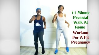 11 Minute Prenatal Walk At Home Workout For A Fit Pregnancy (Ft Sylvia)