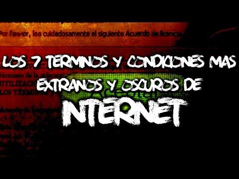 Los 7 términos y condiciones más extraños y oscuros de Internet videó letöltés