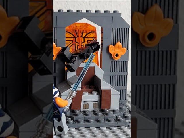 Lego Star Wars Battle on Mandalore (Duell auf Mandalore) - Ahsoka vs. Darth Maul #shorts