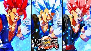 Dragon Ball FighterZ - ALL VEGITO TRANSFORMATIONS GAMEPLAY (Base-SSJ-SSG-SSR-UI-SSB Evolution)
