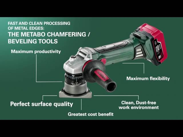 The Metabo Chamfering / Beveling Tools (US version)