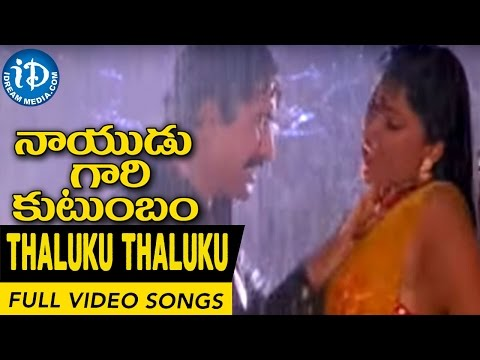 Nayudu Gari Kutumbam Movie - Thaluku Thaluku Chinnadi Video Song || Krishnam Raju, Suman, Sanghavi