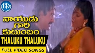 Nayudu Gari Kutumbam Movie Thaluku Thaluku Chinnadi Video Song  Krishnam Raju, Suman, Sanghavi