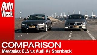Mercedes CLS vs Audi A7 Sportback - English subtitled