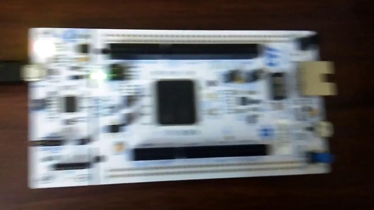 Stm32 nucleo 144 LED blink demo
