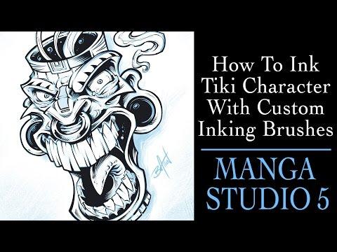 Custom Manga Studio 5 and Clip Studio Paint Brushes - Flyland
