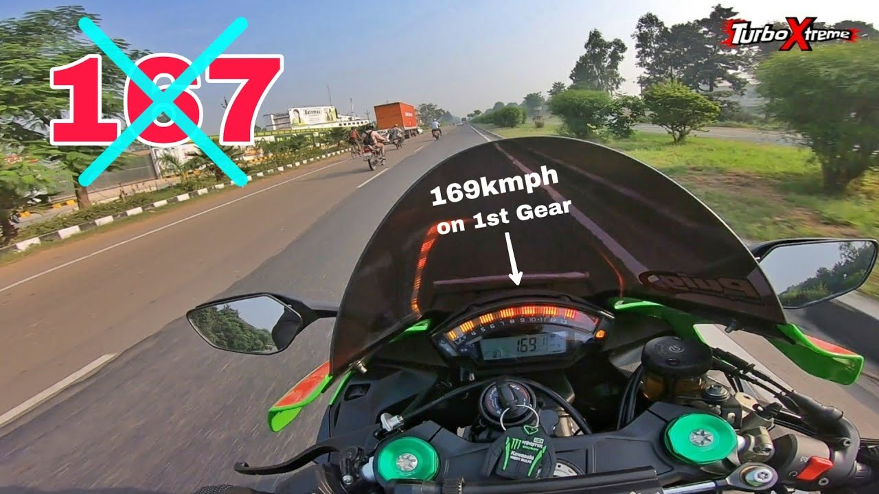 Delhi to Chandigarh in 23minutes on ZX10R