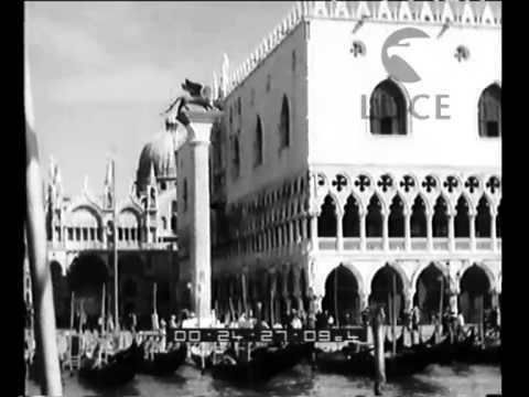 La visita in Italia, per la Biennale d'arte, del ministro tedesco della propaganda Goebbels,