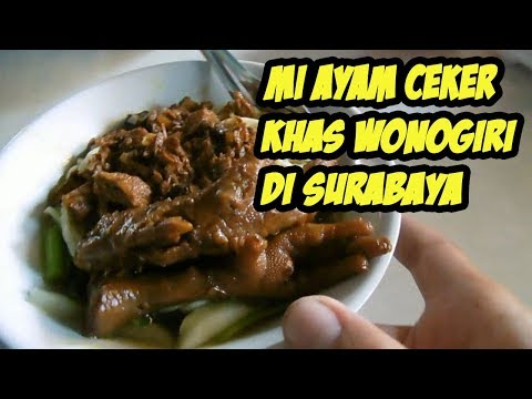 Surabaya Street Food  Mi Ayam Wonogiri
