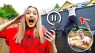 PAUSE CHALLENGE With GIRLFRIEND For 24 HOURS! *Gone Too Far*