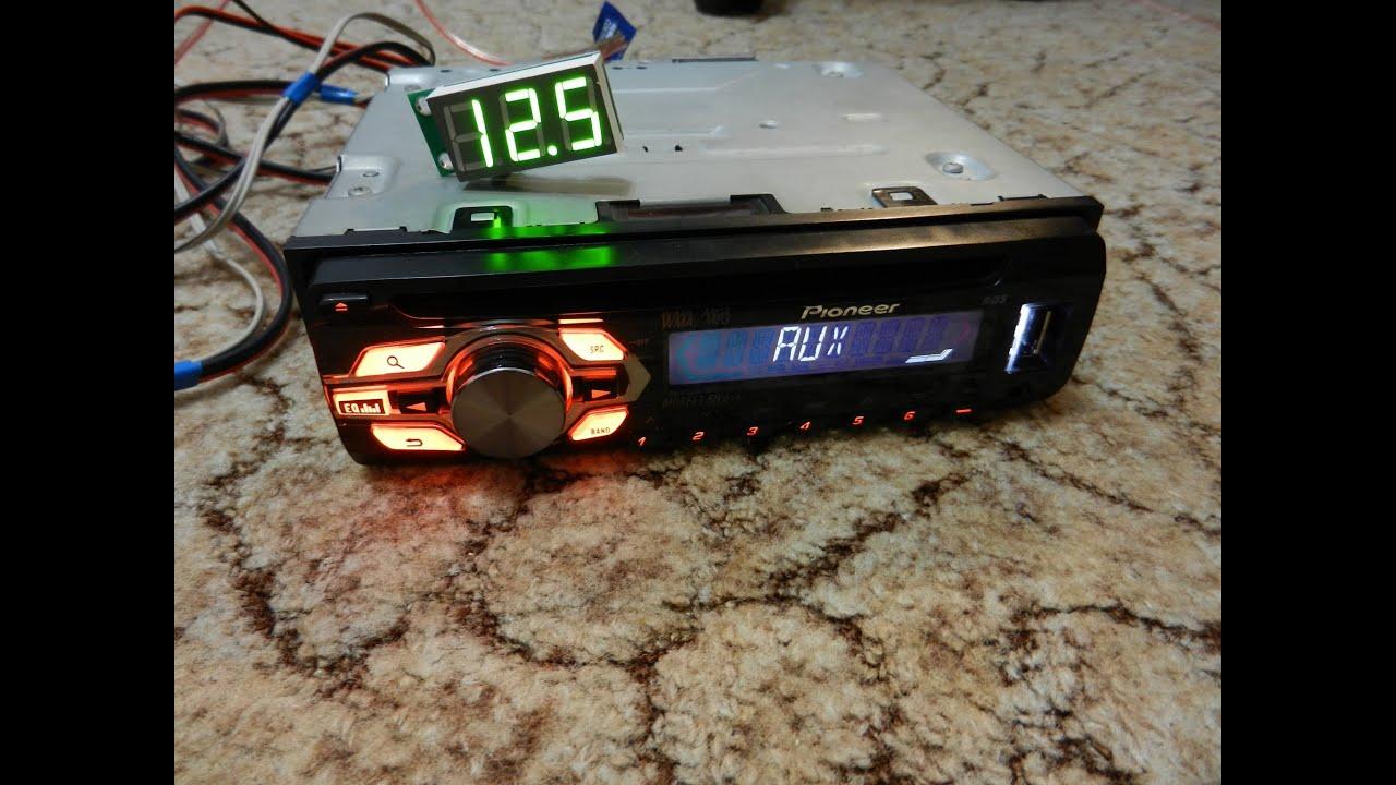 описание и инструкция cd mp3 ресивер pioneer deh 2820mp