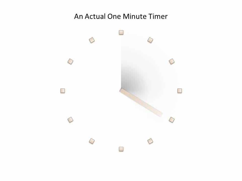 One Minute Timer Animation in PowerPoint - YouTube