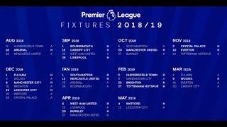2018/19 premier league fixtures announced!