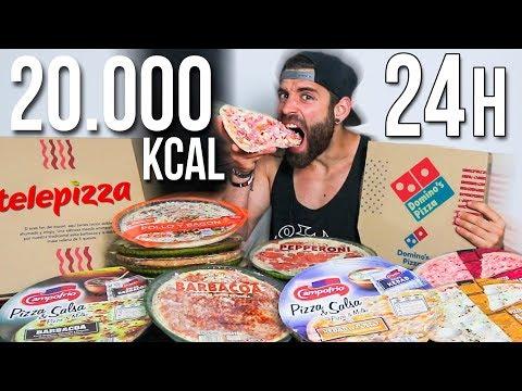 24 HORAS COMIENDO PIZZA | 20.000 KCAL EN PIZZAS