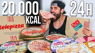 24 HORAS COMIENDO PIZZA | 20.000 KCAL EN PIZZAS