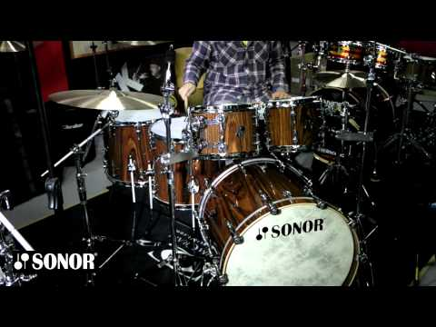 """Bateria Sonor SQ2 Rosewood Gloss 22"""",10,12,14,16""""+14"""" - Groove It Up Drum Shop"""