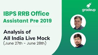 IBPS RRB Office Assistant All India Mock (27th June-28th June):Live video analysis