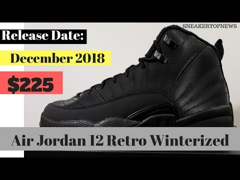 "buy online 07785 16e51 First Look At The Air Jordan 12 Winterized ""Triple Black ..."