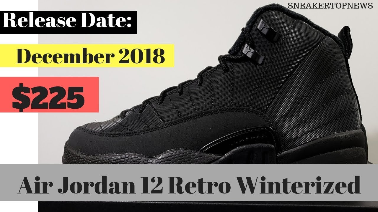 "2d4390212f3 First Look At The Air Jordan 12 Winterized ""Triple Black"" - YouTube"
