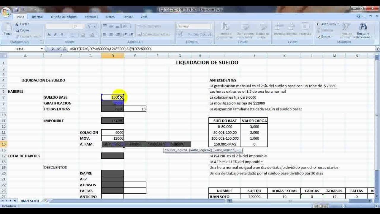 Liquidacion de sueldo1 2016 09 15 for Liquidacion de nomina excel 2016