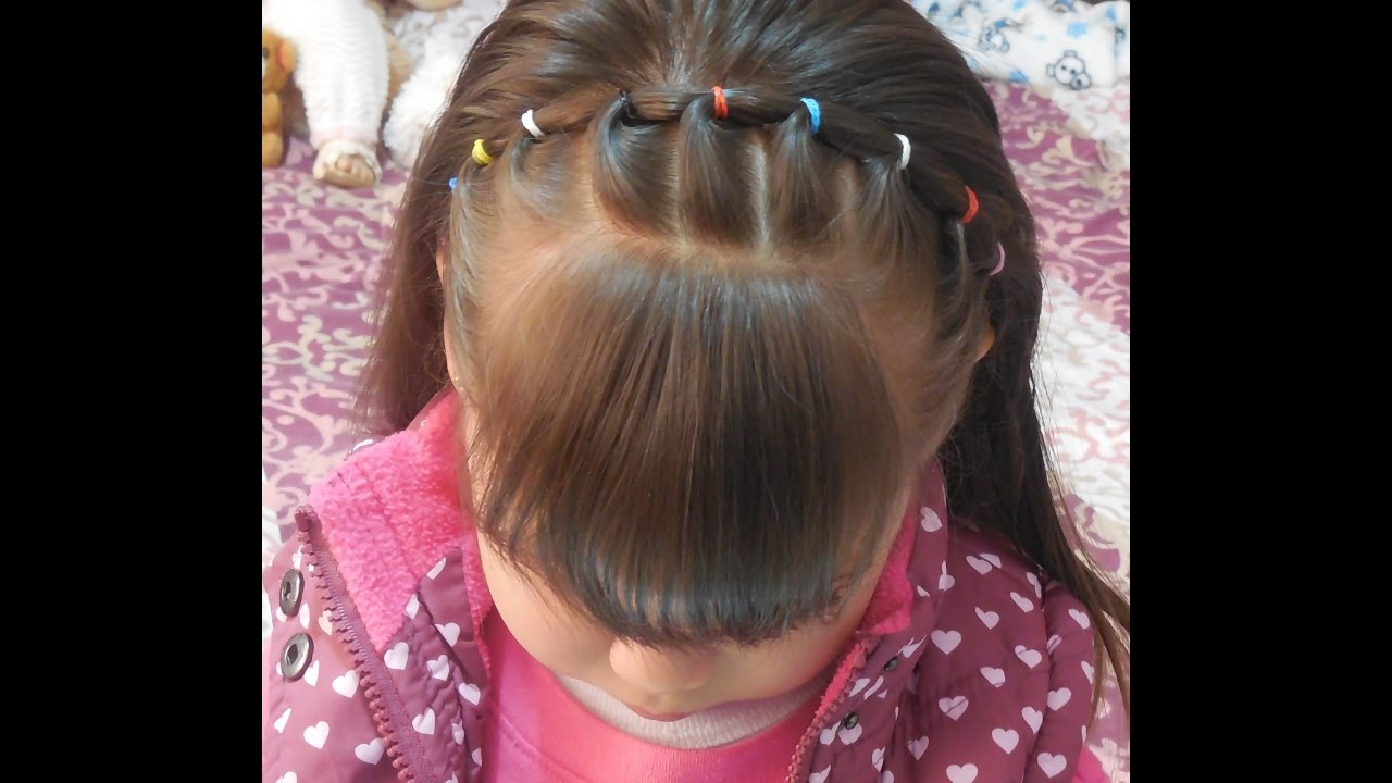 C mo hacer una diadema con ligas peinados para la escuela - Peinados para ninas faciles de hacer ...