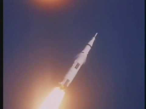NASA TV footage of the launch of Apollo 8 the first manned launch of the Saturn V rocket