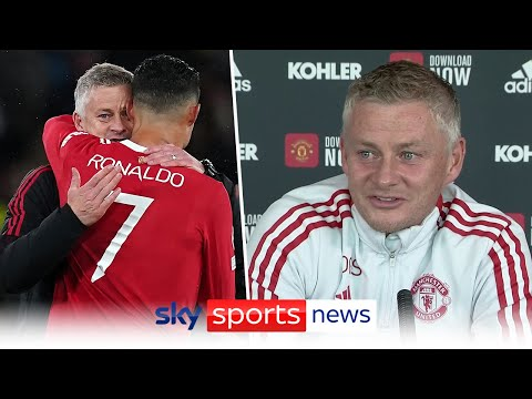 Ole Gunnar Solskjaer laughs off reports that Cristiano Ronaldo's trying to change his tactics