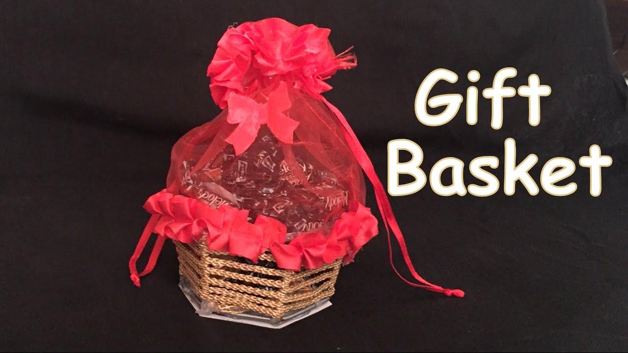 Diy How To Make Beautiful Chocolate Gift Basket Christmas Gift