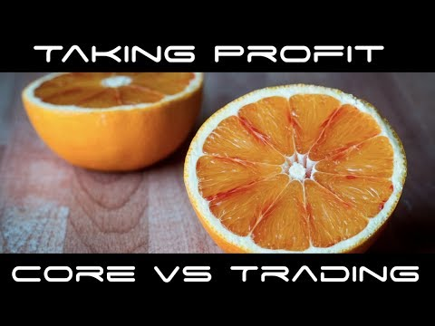 Taking Profit Cryptocurrency - Core Position vs Trading Position