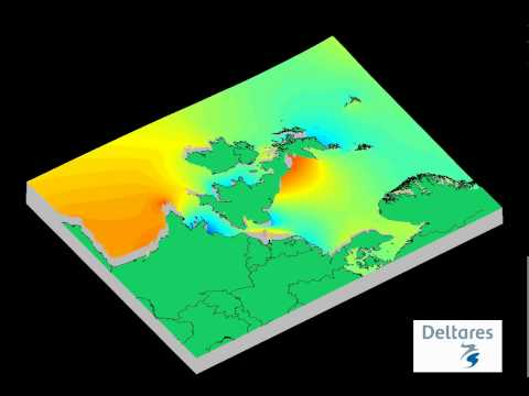 Animation Of North Sea Tides