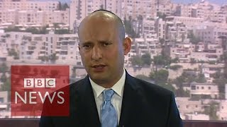 Video 'How many Israelis need to die to gain your sympathy?' asks Naftali Bennett - BBC News download MP3, 3GP, MP4, WEBM, AVI, FLV Juli 2018