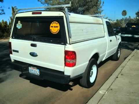2008 Ford Ranger XL, 2WD, 93k Low Miles, 4 New Tires, 1 Owner White Truck! (San Diego, California)
