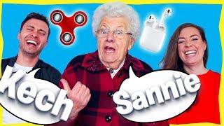 Grandma Miep guesses Dutch/English MODERN WORDS & OBJECTS!